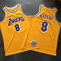 1996-97 Mitchell & Ness Lakers 8 Kobe Bryant Retro Swingman Jersey