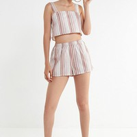 Urban Renewal Remnants Natural Striped Short | Urban Outfitters