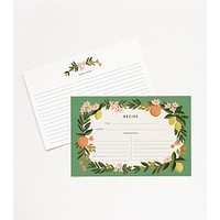 Citrus Floral Recipe Cards