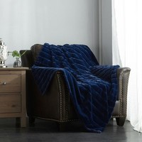 Navy Lovi Throw Blanket