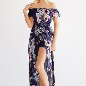 As Long As You Love Me Maxi Romper