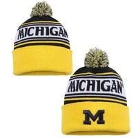Michigan Wolverines Top of the World Ambient Knit Hat – Navy Blue