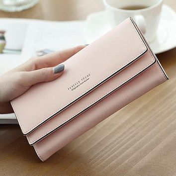 2017 Brand Designer Leather Phone Wallets Women Hasp Long Coin Purses Girls Money Bags Credit Card Holders Clutch Wallets Female
