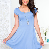 Fawna Skater Dress - Light Blue