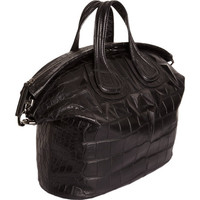 Givenchy Croc-Stamped Studs Nightingale Satchel at Barneys.com