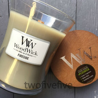 Fireside Medium Woodwick Candle