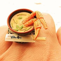 Miso Soup Crab Miniature Food Ring