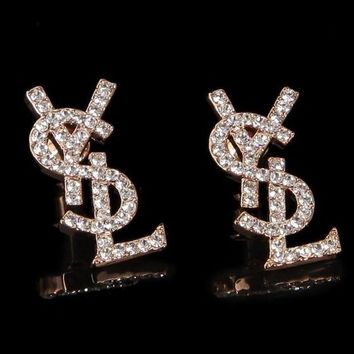 YSL Yves Saint Laurent 2018 Trendy Earrings Letter Earrings F