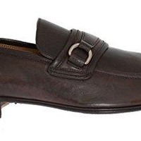 Dolce & Gabbana Brown Leather Formal Loafers Shoes
