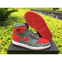 Air Jordan 1 CAMO PACK 3M Red Gray Shoes  40-47
