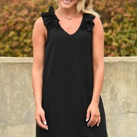 Stay Or Leave Dress - Black