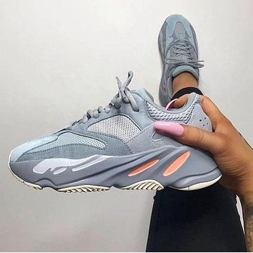 Adidas Yeezy 700 Boost Fashion New Sneakers Casual Running Reflective Dot Sport Shoes Grey