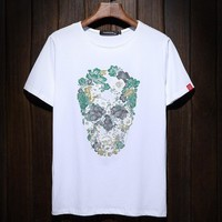 Korean Summer Men Round-neck Plus Size Print Short Sleeve T-shirts [9957982211]