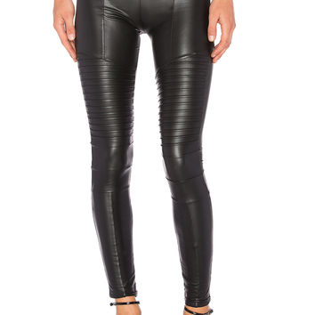 Plush Full Liquid Moto Legging in Black