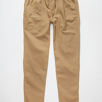 Elwood Skinny Tapered Twill Mens Pants Dark Khaki  In Sizes