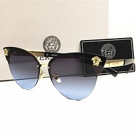 Versace Popular Women Men Casual Summer Sun Shades Eyeglasses Glasses Sunglasses Black I