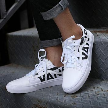 Vans Old Skool Low White Sneakers Casual Shoes VN0A38G1QW8
