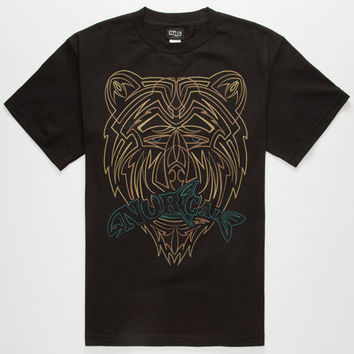 Nor Cal Pinstripe Mens T-Shirt Black  In Sizes