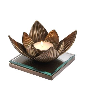 Vintage Tealight Holder | Eichholtz Lotus