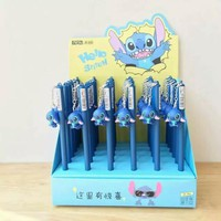 4 pcs/lot 0.5mm Hello Stitch Lovely Pendant Gel Pen Promotional Gift Stationery School & Office Supply