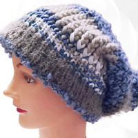 Knit Hat, Slouchy Hat, Beanie Hat, Pom Pom Hat, Blue Hat, Gray Hat, White White, Brown Hat, Beige Hat, Colorful Hat, Winter Hat, Chunky Hat