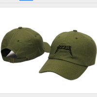 YEEZUS letters embroidered baseball cap Green