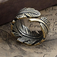 Men's Vintage Leaf Band Rings