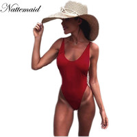 Sexy bodysuit 2017 summer Red backless elastic  women jumpsuit rompers Casual  Ladies Solid color bodycon beach wear best price