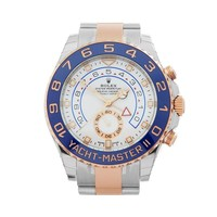 ROLEX YACHT-MASTER II STAINLESS STEEL & 18K ROSE GOLD WATCH 116681 COM1558