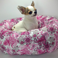 Pink Paisley Round Pet Bed – Group One Dog Gallery®