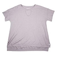Calvin Klein Textured Knit Keyhole Bust Performance Athletic Top (Evening Sand, Large)