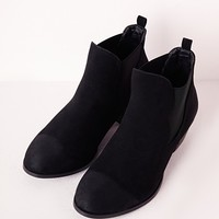 Missguided - Distressed Toe Ankle Boots Black