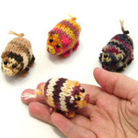 New collection- brown and orange striped piggy knitted baby toy, little pigs stuffed toy, handknit
