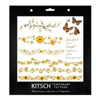 Kitsch Temporary Tattoos - Flower Set 1