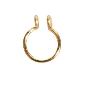 Gold FAUX Septum Ring