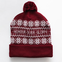 Nordic Bobble Hat (Burgundy) | The Honour Over Glory Store
