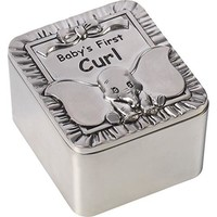 """Disney Dumbo First Curl Box, """"Baby's First Curl"""", Zinc Alloy"""