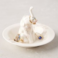 Bathing Elephant Trinket Dish by Anthropologie in White Size: One Size Bath