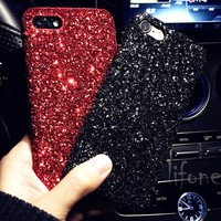 Kerzzil Luxury Bling Glitter Shining Flash Powder Capa For iPhone 7 6 6S Plus PC Hard Phone Case For iPhone 6 7 6S Plus Cover