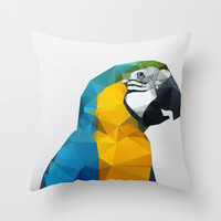 Geo - Parrot Throw Pillow by Three of the Possessed