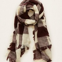 Aerie Women's Plaid Blanket Scarf