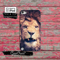 Lion Snarl Teeth Power Animal Safari Tumblr Cat Case iPod Touch 4th Generation or iPod Touch 5th Generation or iPod Touch 6th Gen Rubber