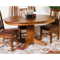 Sunny Designs Sedona Oval Extension Table In Rustic Oak