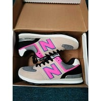 """""""New Balance"""" Fashion Casual All-match N Words Breathable Couple Sneakers Shoes Grey pink-N"""