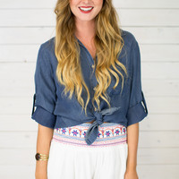 Sante Fe Embroidered Short