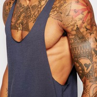 ASOS Vest With Raw Edge And Extreme Racer Back