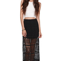 Kendall and Kylie High Rise Crochet Maxi Skirt at PacSun.com