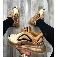 "Nike AIR MAX 720 ""Desert Gold"" cushioning running shoes"