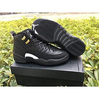 Air Jordan retro 12 black master sneakers black sneakers US size 5.5-13