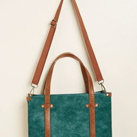 Camp Director Zipped Tote in Teal